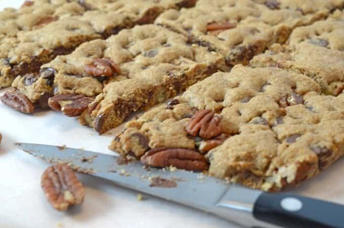 Chocolate Pecan Bars - Featuring Ghiradelli Chocolate Chips - Platter ...