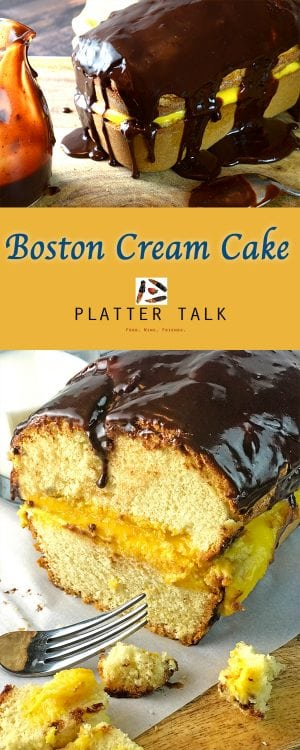 Boston Cream Cake Recipe from Platter Talk
