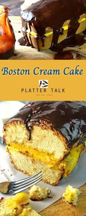 Boston Cream Cake Recipe from Platter Talk