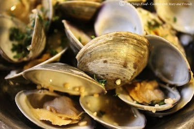 Steamed Clams in White Wine , from Cooking with Mary and Friends.