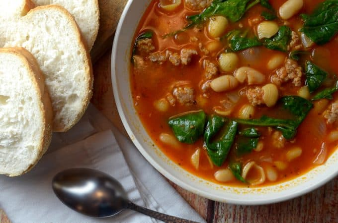 White Bean and Sausage Soup Recipe