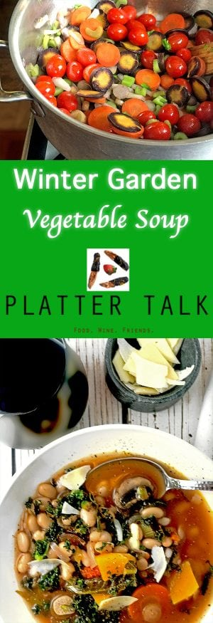 Winter Vegetable Soup, A Warm and Healty Winter Garden in a Bowl!