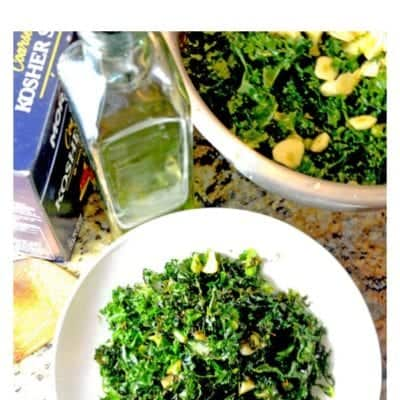 Learn how to prepare kale in just 20 minutes with this flavorful and delicious roasted kale. See Platter Talk for more kale recipes.