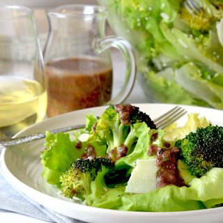 Escarole and Roasted Broccoli Salad with Tapenade Dressing