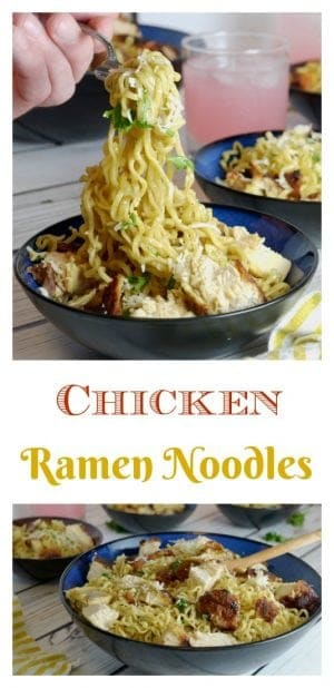 This Chicken Ramen Noodles Recipe can be make in about a half hour and feed four people, all for about $10.00!
