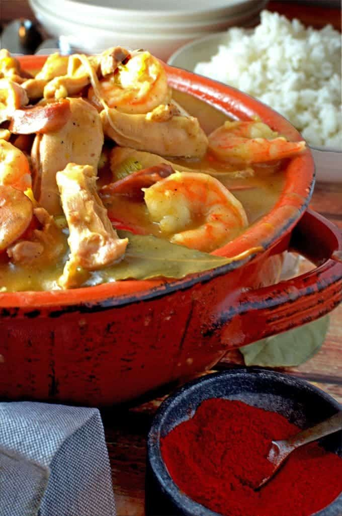 This Sausage and Gumbo Chicken is complimented with Shrimp and a combination of cajun spices.