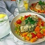 Summer Chicken with Succotash Recipe by Platter Talk.