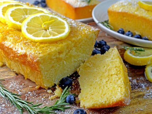 Lemon Loaf Cake Recipe With Rosemary Infused Lemon Glaze