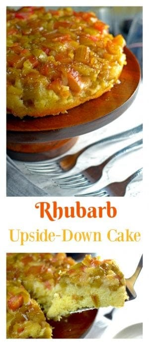 This rhubarb upside-down cake is a luxurious dessert that you can make in your own kitchen using simple ingredients that celebrate the tastes of late spring and early summer.