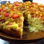rhubarb upside-down cake recipe by Platter Talk