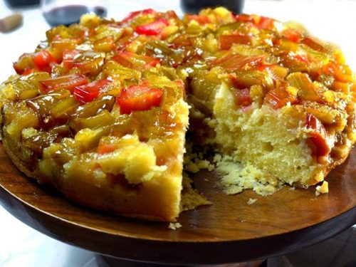 Rhubarb Upside Down Cake What To Do With Rhubarb Platter Talk