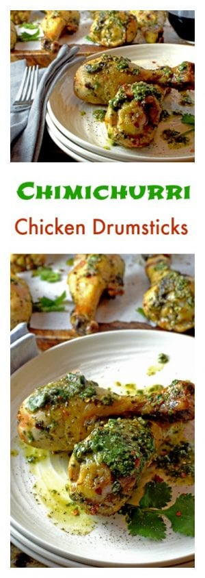Chimichurri Chicken Drumsticks are an easy and affordable way to eat heatlhy without spending a lot of money.