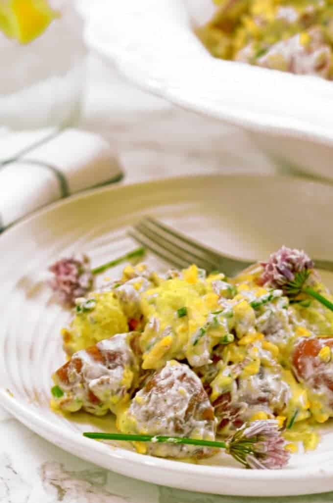 Bacon Ranch Potato Salad makes for a great side dish or even a main entree.