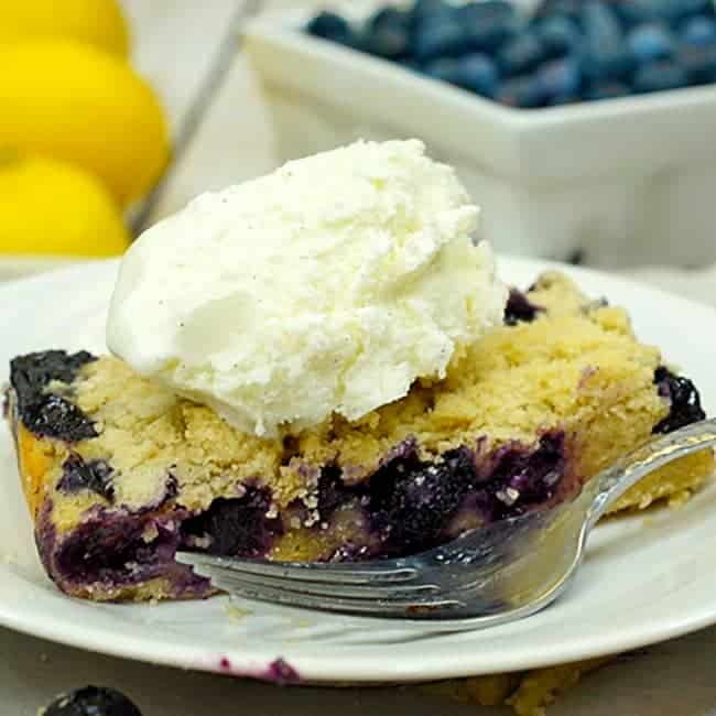Blueberry Pie Bars recipe on Platter Talk