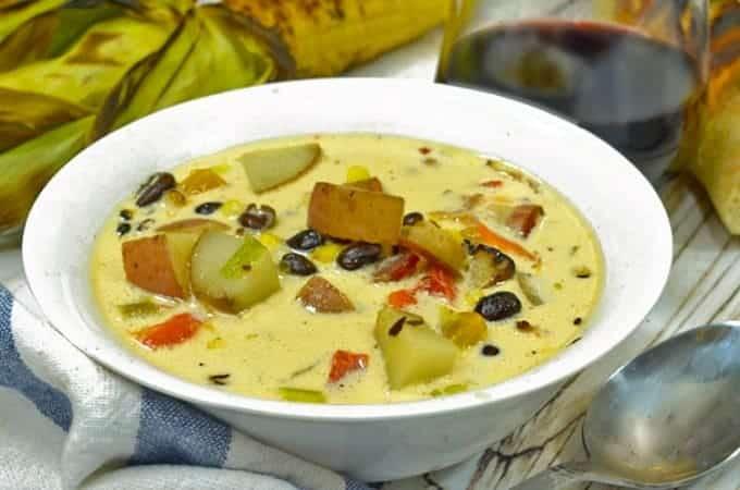 Black Bean and Roasted Corn Chowder