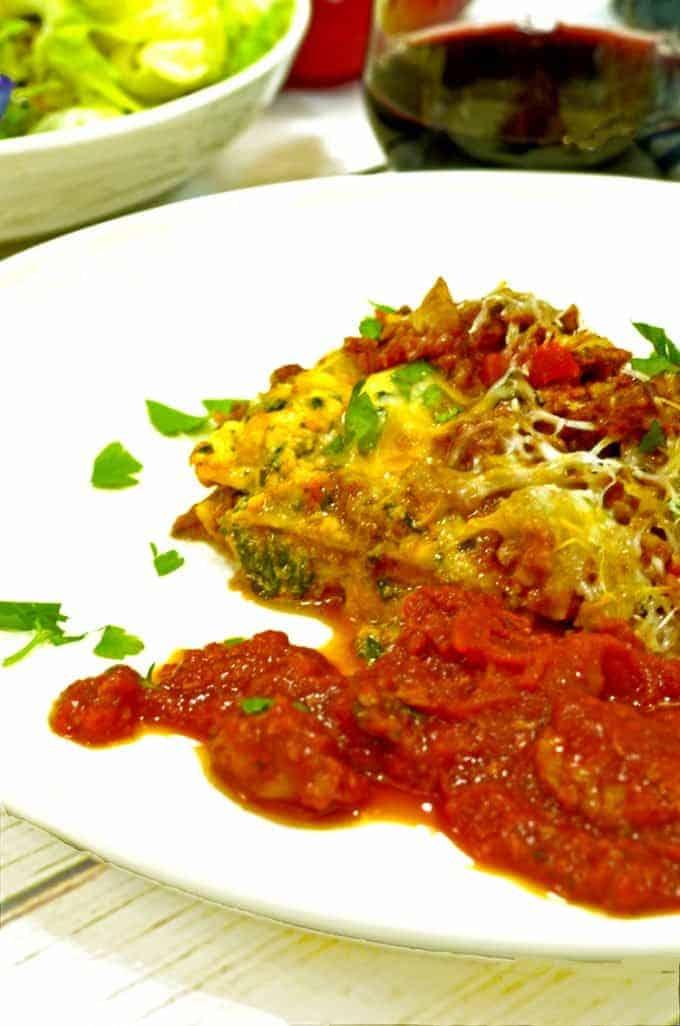 Try ths best easy lasagna recipe from Platter Talk