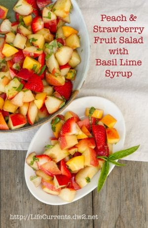 Peach and Strawberry Fruit Salad