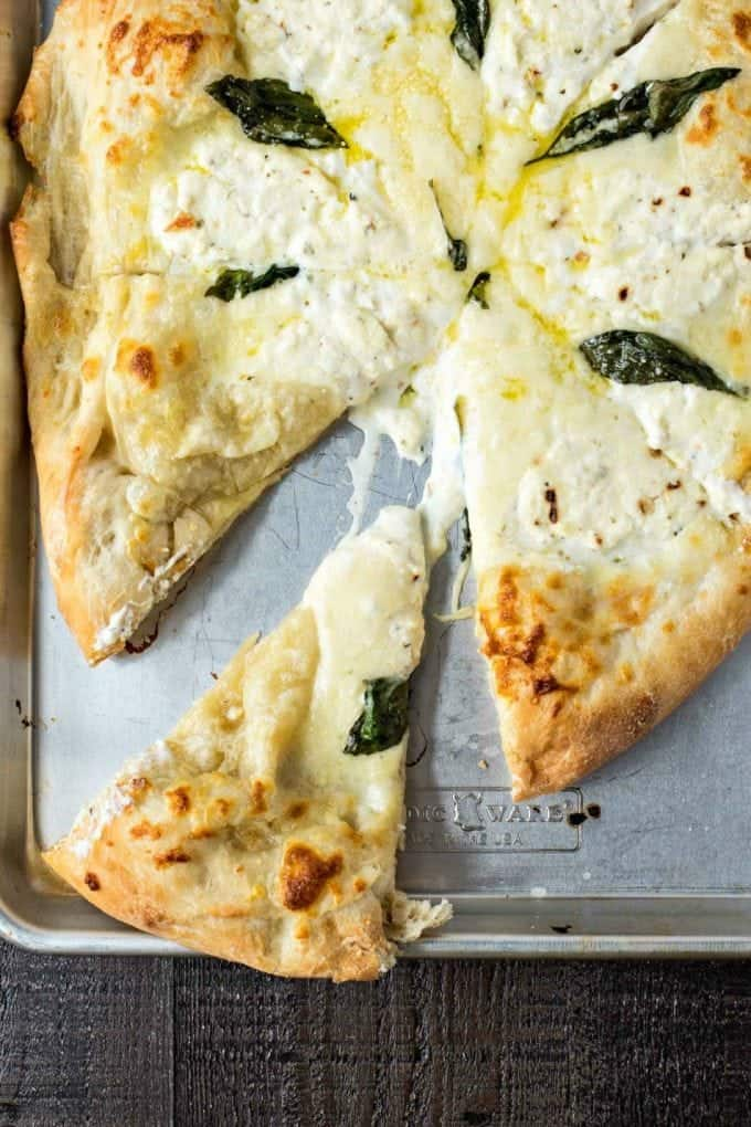 White Pizza for end of summer pizza party.