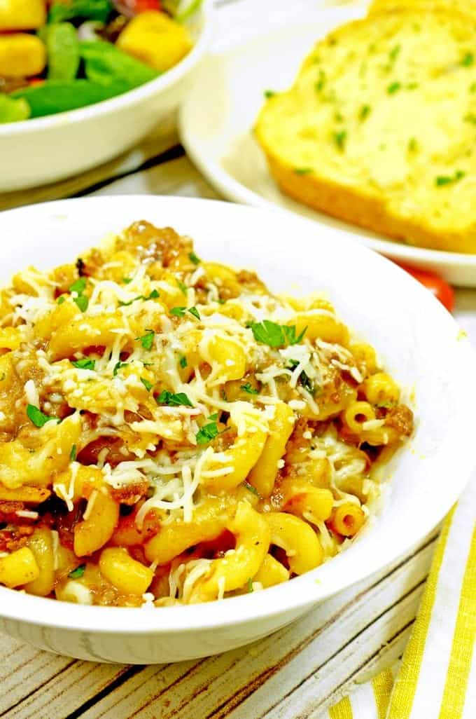 Sloppy Joe Mac and Cheese Recipe on Platter Talk