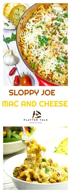 Sloppy Joe Mac and Cheese is a fusion comfort food that is easy to make and provides a meal that the whole family wiill enjoy for lunch or dinner.