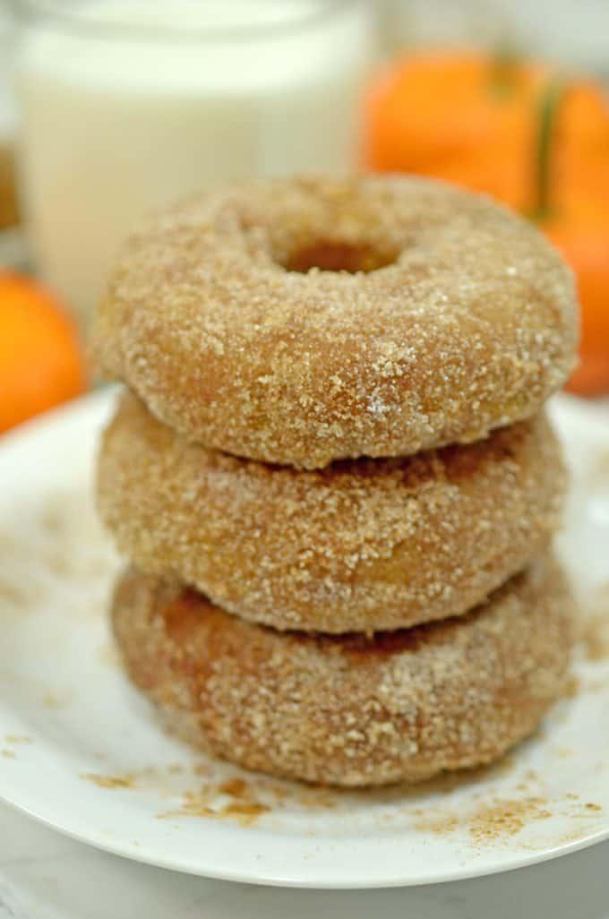 Baked pumkkin donuts recipe on Platter Talk