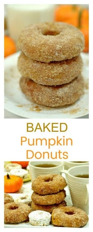 Baked Pumpkin Donuts are a simple and delicous autumn treat that you will want to make all year round. Many people claim that these are the best donuts they have ever tasted!