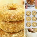 Stack of baked pumpkin donuts.