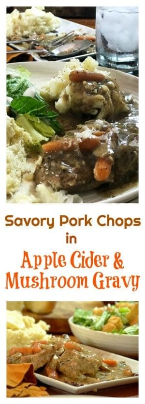This Savory Pork Chops dinner feeds four people and can be made using a single skillet, all for about $20.00