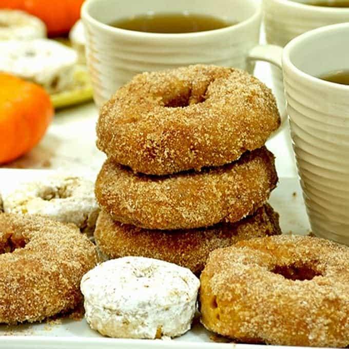 Baked Pumpkin Cookies taste geat with coffee or milk.