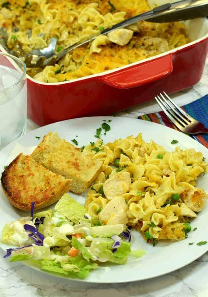 Chicken Noodle Casserole for dinner