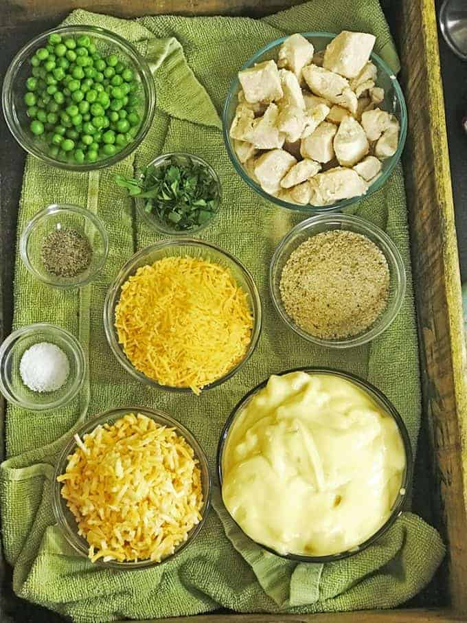 Ingredients for chicken noodle casserole
