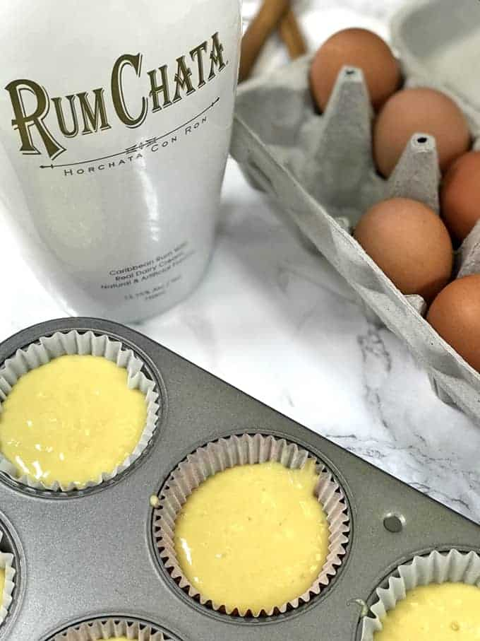 Making RumChata Cupcakes