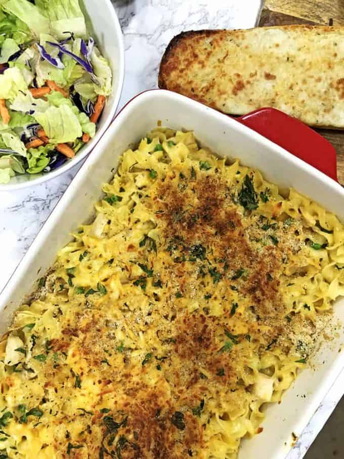 Pan of Chicken Noodle Casserole
