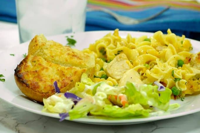 Plate of Chicken Noodle Casserole