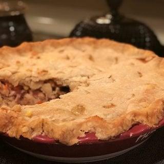 Easy Leftover Turkey Pot Pie & Homemade Pie Crust