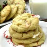 White Chocolate Peppermint Cookies are perfect for Santa Clause