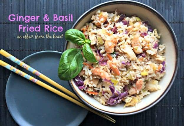 Ginger and Bsil Fried Rice from An Affair from the Heart