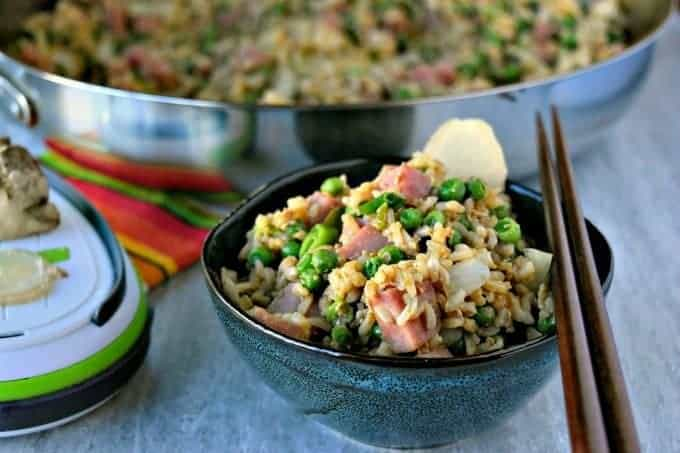 Ham and Pea Fried Rice from A Kitchen Hoor's Adventures