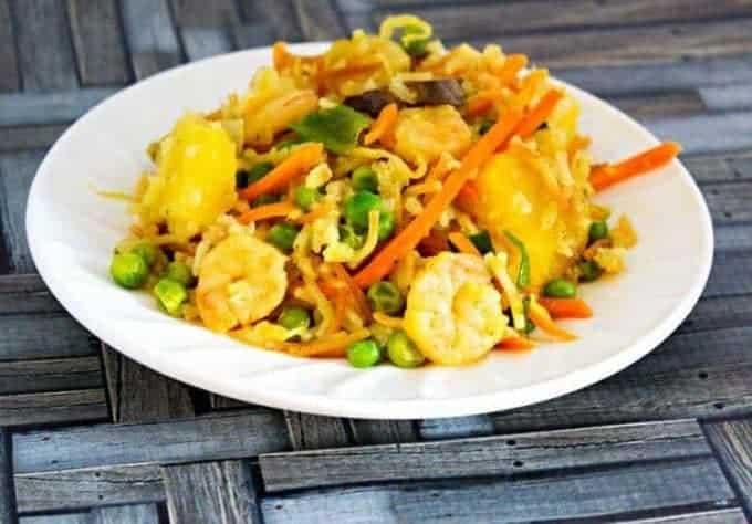 Hawaiian Shrimp Fried Rice from Seduction in the Kitchen