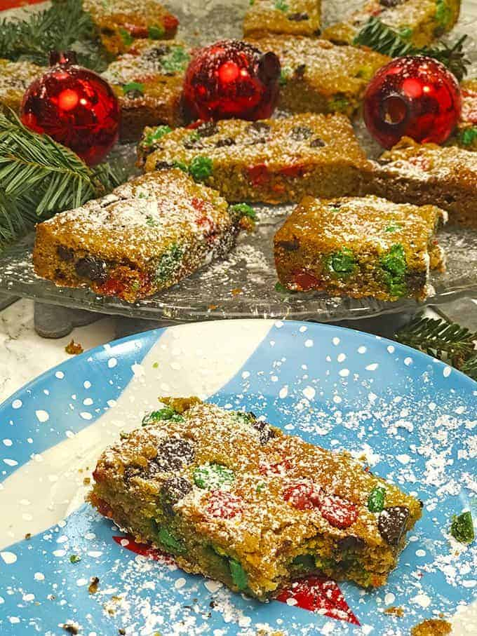 Taking a bit of Christmas Cookie Bars