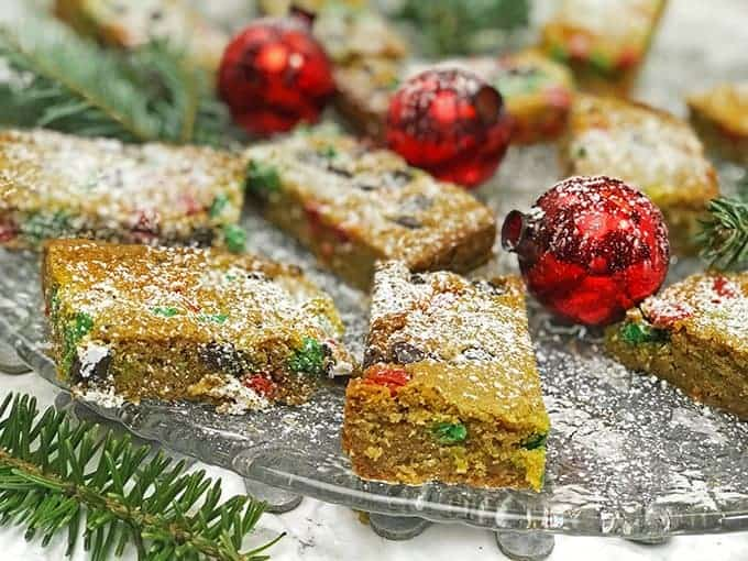 tray of christmas bar cookies - Christmas Bar Cookies