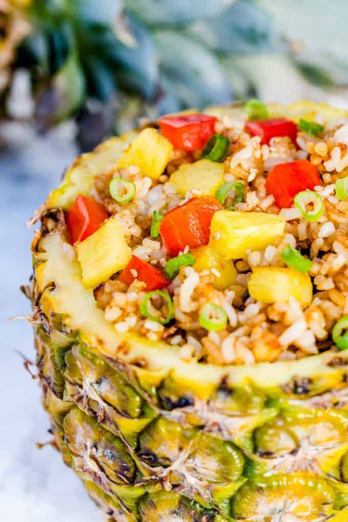 Pineapple Fried Rice Recipe with Red Bell Peppers