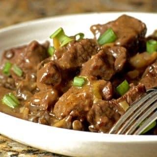 Instant Pot Asian Beef over Lentils