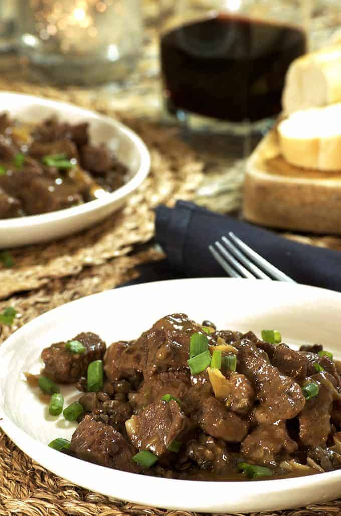 Insant Pot Beef Stew on Platter Talk