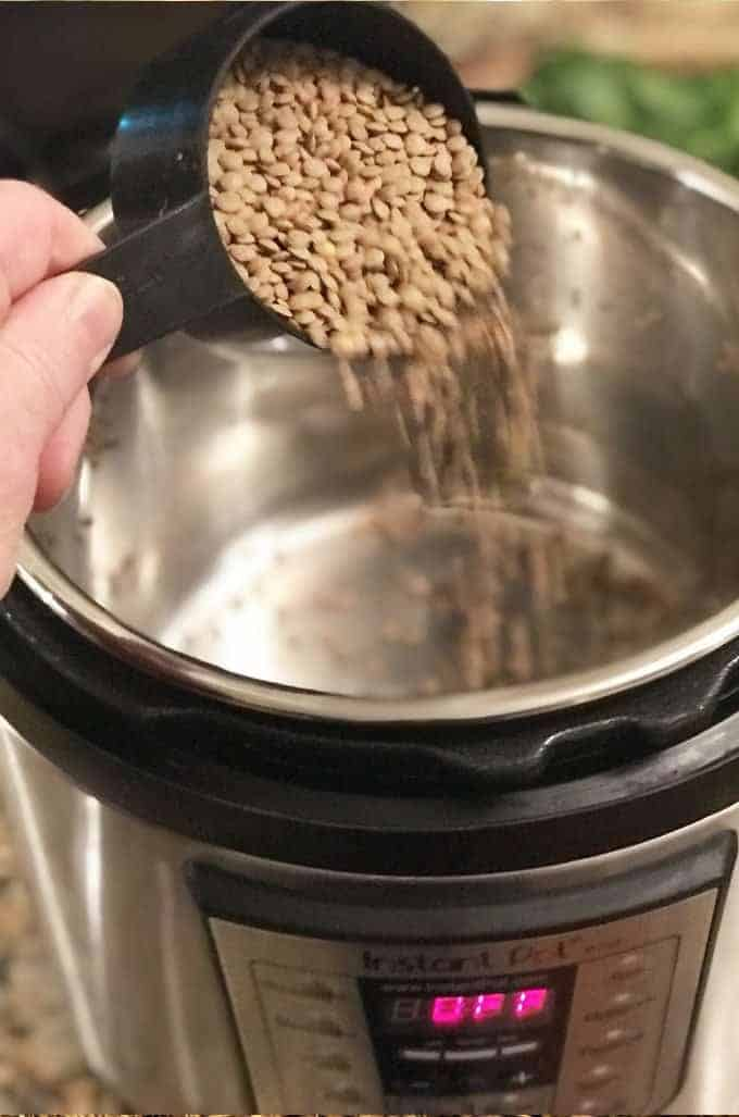 Lentils for Instant Pot Beef Stew
