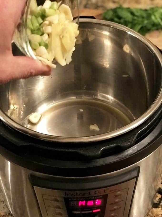 aromatics used in instant pot beefr