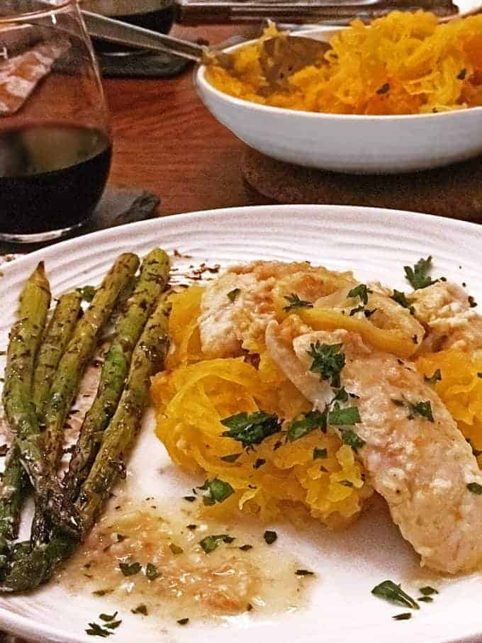 Healthy chicken franchese recipe is full of flavor.
