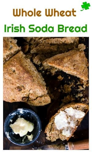 This Whole Wheat Irish Soda Bread recipe from Platter Talk features the delicious flavors of caraway seeds and golden raisins, all blended together with a healhy spin ona timeless Irish classic that is perfect for your St. Patricks Day menu or for any meal throughout the year.