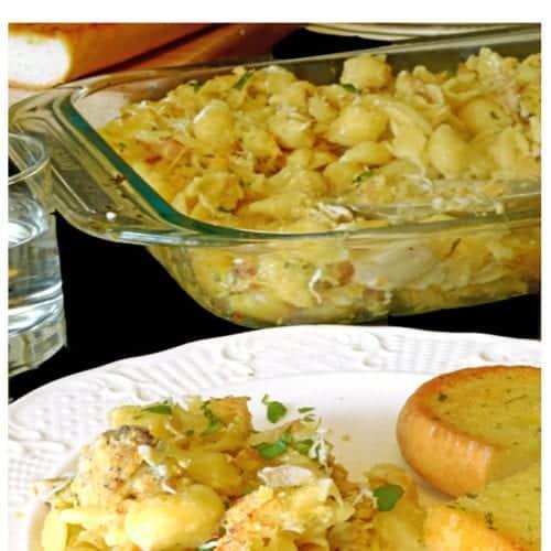 Leftover chicken casserole