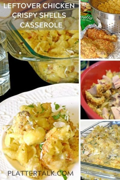 Crispy shells casserole made with leftover chicken.
